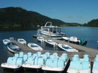 2h renting of pedal boats reservoir of Fuensanta