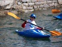 Young kayaker