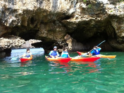 Kayaking tour along Ribadesella and Llanes coasts