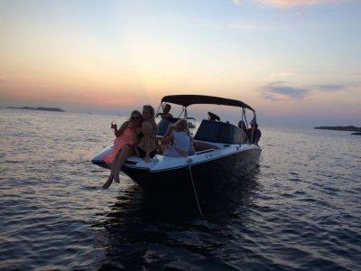 Private match ride Ibiza sunset