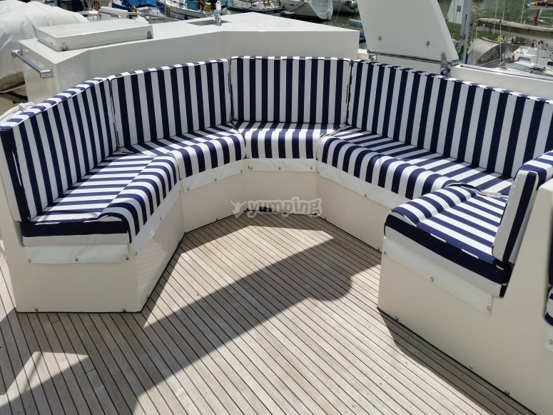 The sofas are ideal when the weather is good