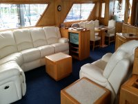 The luxury yacht has a lot of room