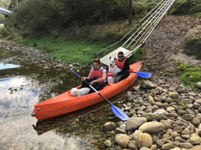 Kayaking in Sella River - Whole Family