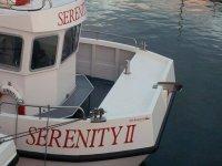 Serenety II at Farne Island.