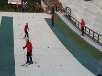 Skiing fof beginners at  Norfolk Snowsports Club.