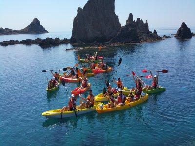kayaking trip for children in cabo de gata