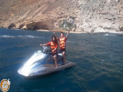 Jet ski route for two people in Altea
