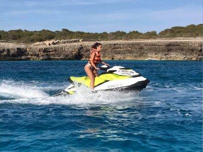 Jet ski tour in Southern beaches of Menorca 1h