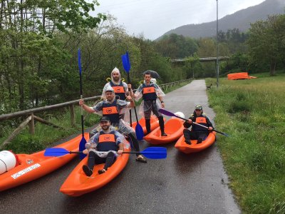 Kayaking in Sella river for Bachelor's Parties