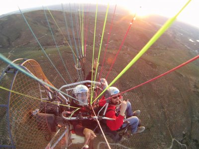 60 min paramotoring w/ instructor in Sierra Nevada