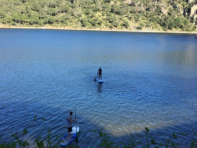 3h paddle surfing+menu in San Juan reservoir