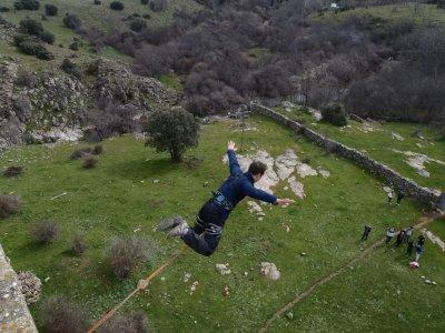 Bungee jumping+Zipline in Madrid, SAN ISIDRO