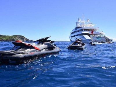 Jet ski rental, Ibiza coast, a half day
