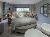 White confortable bedroom