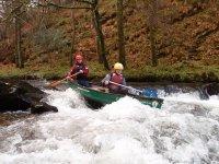 Thrilling canoeing fun