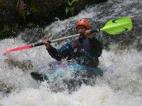White knuckle kayaking
