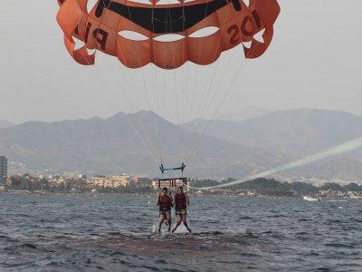 Jet boat, parascending & jet ski for 2 in Málaga
