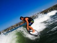 Riding the wake