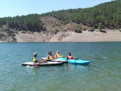 Kayaking in the El Vado reservoir, 1 hour