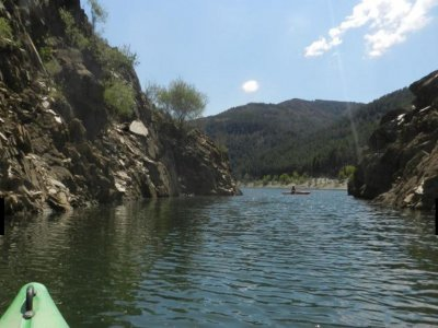 Canoeing on the El Vado reservoir. Two hours.