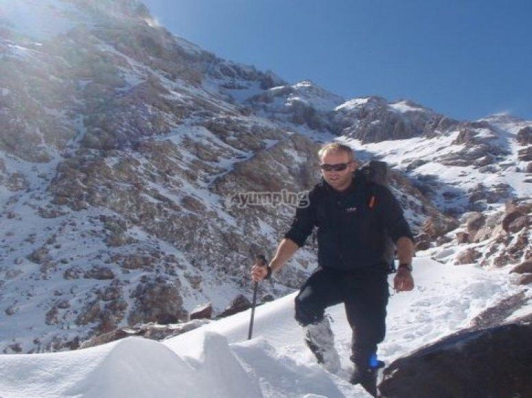 Winter hill hiking
