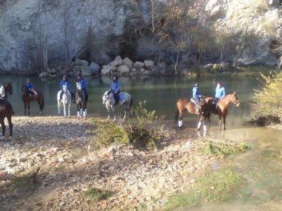 Horse Riding Class 1/2 h + 1 h Tour in Acedo,
