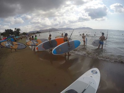 Paddle surf course for beginners in Mazarrón