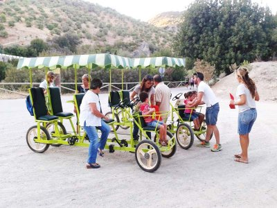 Quadricycle hire, rail trail (Via Verde) of Cádiz
