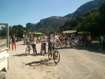 Bike rental for kids Via Verde, Cádiz mountains