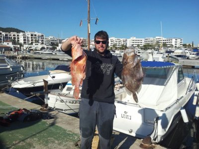 Bottom fishing in Ibiza