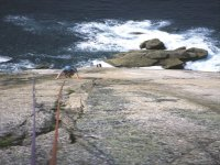 Climbing the sea cliffs