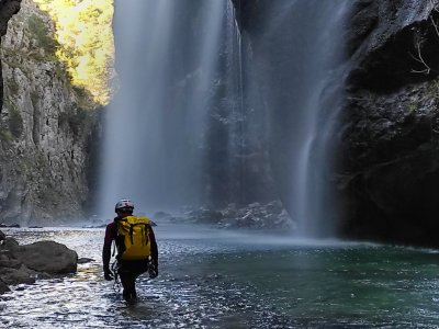 Canyoning in the area of Cazorla