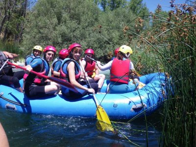 Rafting down upper course in the Guadiela