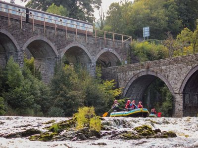 Whitewater rafting in The River Dee