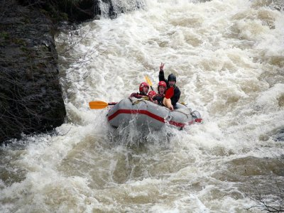 Whitewater rafting in The River Tryweryn