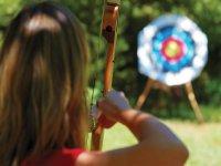 Testing her aim