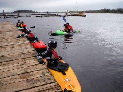 Kayaking family at Fermanagh