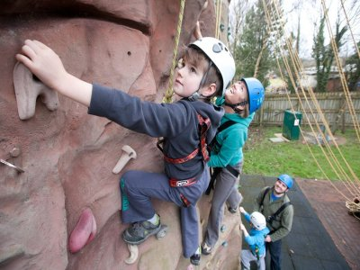 Climbing for kids at Fermanagh