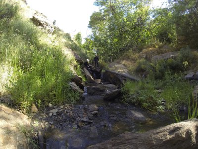 Group canyoning in Almeria