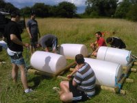Raft Building at Devon