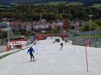 Intermediate skiing at Newmilns Snow & Sports Complex