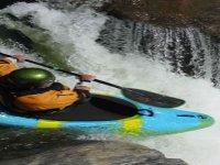 Wild white water kayaking
