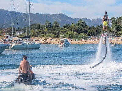 Schooner, flyboard and Paddle sup in Ría Arousa