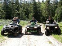 On the quad trail