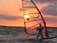 Windsurfing at sunset