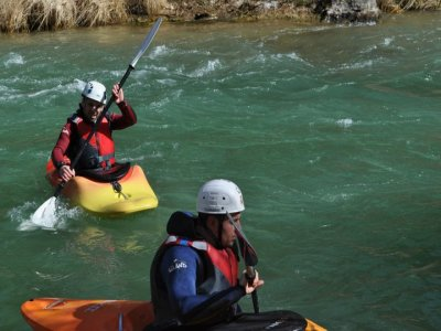 Kayaking on the Segura river Rough water class 2&3
