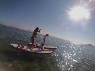 Paddle surf journey in la Manga del Mar Menor