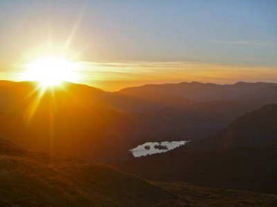 Walking in The Lake District Sunset and Sunrise