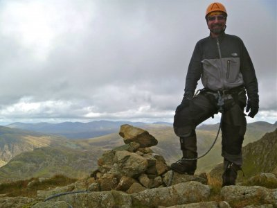 Climbing at Pillar Rock in The Lake District
