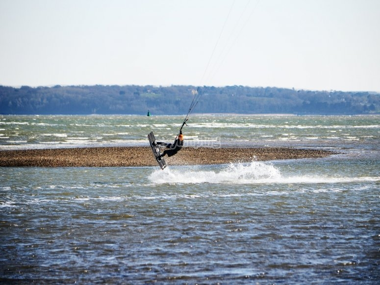 kitesurfing at poole harbour
